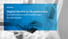 "Banner zum Webinar ""Digital Health in Skandinavien"""