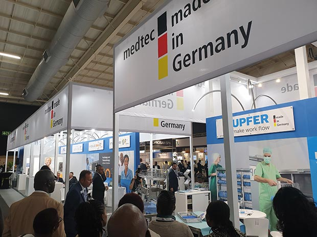 The German Pavilion featured latest solutions in various medtech fields