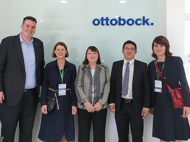 Site-visit of the German delegation at ottobock. Vietnam
