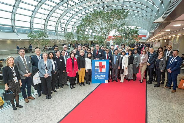 Messe Düsseldorf welcomes 31 diplomats from 20 countries
