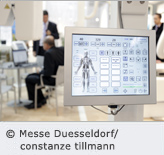 Visitor at MEDICA fair; Source: Messe Duesseldorf / constanze tillmann